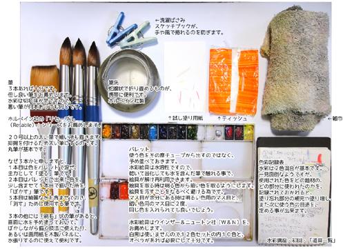 水彩画講座用・指導案「道具一覧」スナップ・510.jpg
