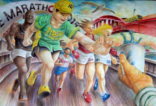 神戸マラソン「水を求める」・自己撮影・510.jpg