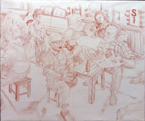 002・タクシーカフェ「色鉛筆・下絵完成」・510.jpg