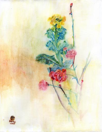 003・水彩完成「早春の花」・510.jpg