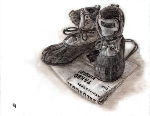 004・デッサン完成「靴+包装紙」・510.jpg