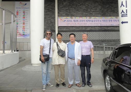 6月19日・前日・「会場前・ワリッド・ナギ・ユンさん・Mr・リー」・510.jpg